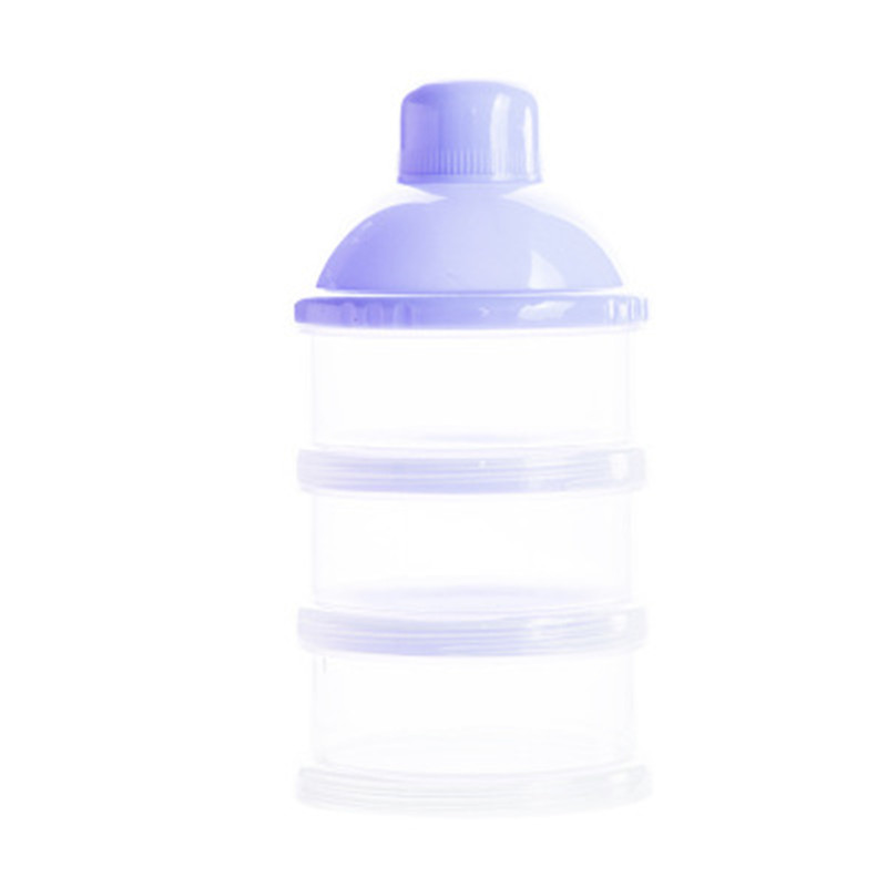 New Baby Portable Milk Powder Formula Dispenser Food Container Storage Feeding Box Kid Three-lattice Baby Detachable Storage Box