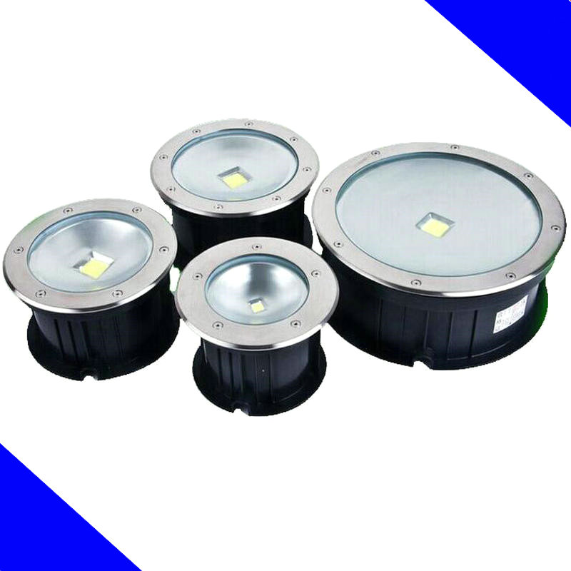 Free shipping IP68 10W 20W 30W 50W LED COB underground light COB inground light, Diameter 250mm, AC85-265V LED outdoor lamp от Aliexpress INT