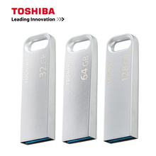 TOSHIBA USB Flash Drive флешки 128 ГБ 64 ГБ 32 ГБ Cle USB 3,0 металлическая ручка привода Memoria U Stick серебряный диск памяти внешних накопителей