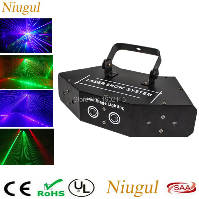 High quality Fan-shaped six-eye scanning RGB laser light for DJ disco club party stage effect lights with vce control beam light