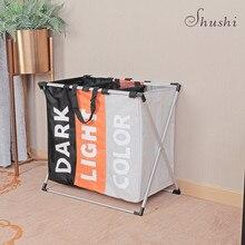 Shushi водостойкий корзина для белья Оксфорд складная корзина для белья металлический корзина для грязной одежды хранение портативный Прачечная организация