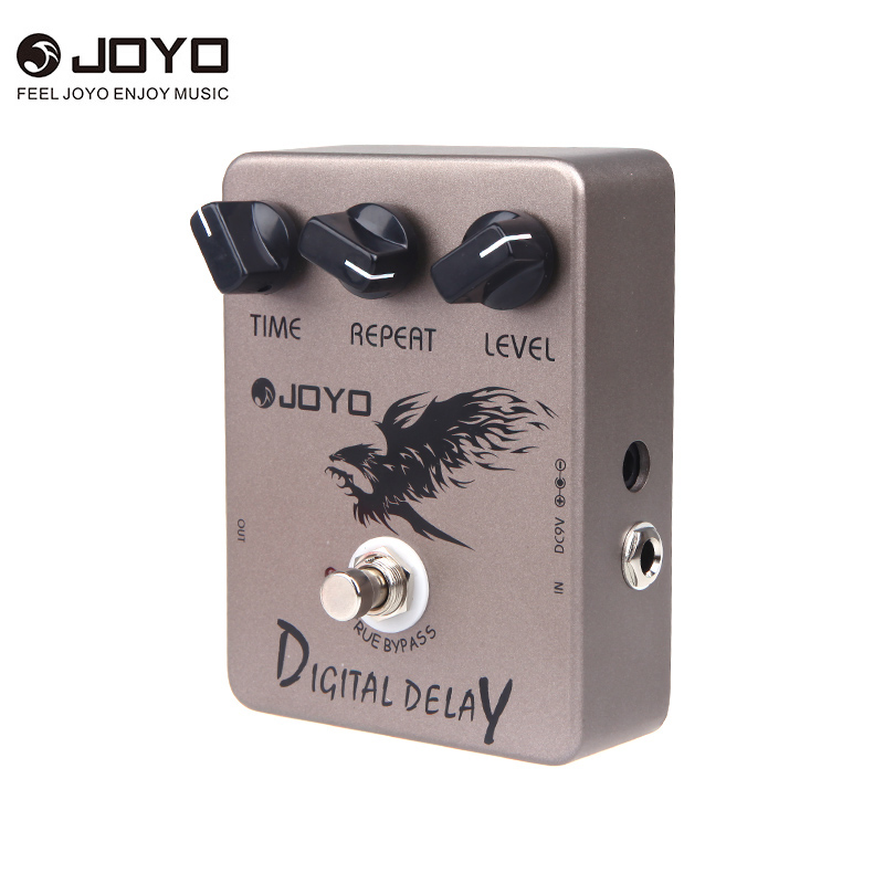 Joyo JF 08 Digital Delay Guitar Effect Pedal Time Delay Repeat Level Adjustment Close To Analog