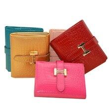 Brand Mini Women Genuine Leather Wallet Classic Brand Female Coin Purse Wallet Short Female Card Holder Purse Women