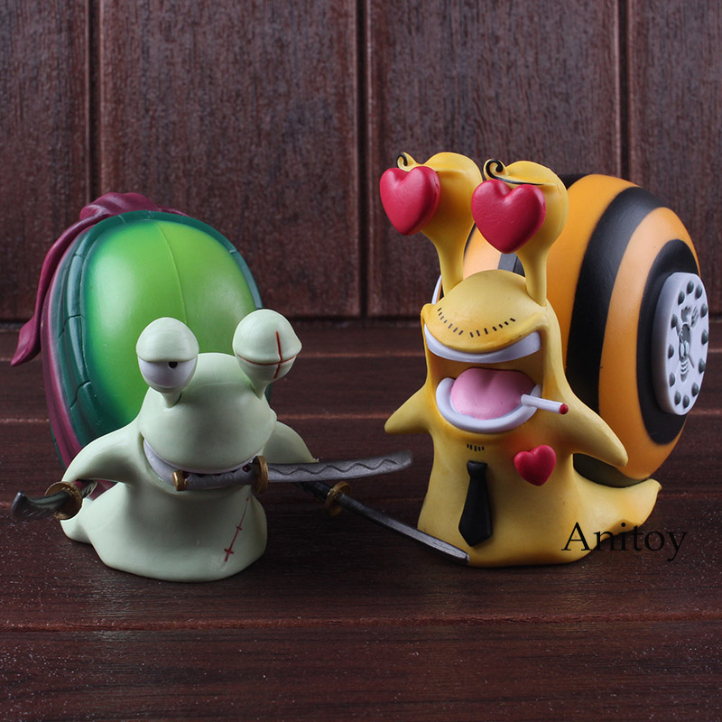 One Piece Anime Sanji + Zoro Den Den Mushi Telephone PVC Roronoa Zoro Vinsmoke Sanji Action Figure Model Toys Dolls 2pcs/set 1
