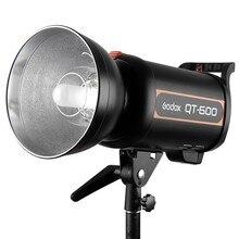 цена на Godox QT-600 600W 1/5000s AC200-240V/50HZ Fast Duration Flash Lighting LED Lamp Studio Light Strobe Head For Phone Camera