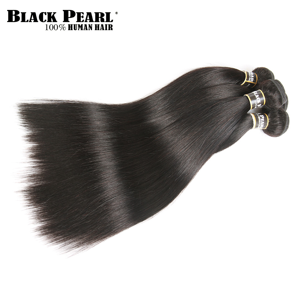 Melna pērle pirmskrāsaina mežģīņu frontālā slēgšana ar - Cilvēka mati (melnā krāsā) - Foto 6