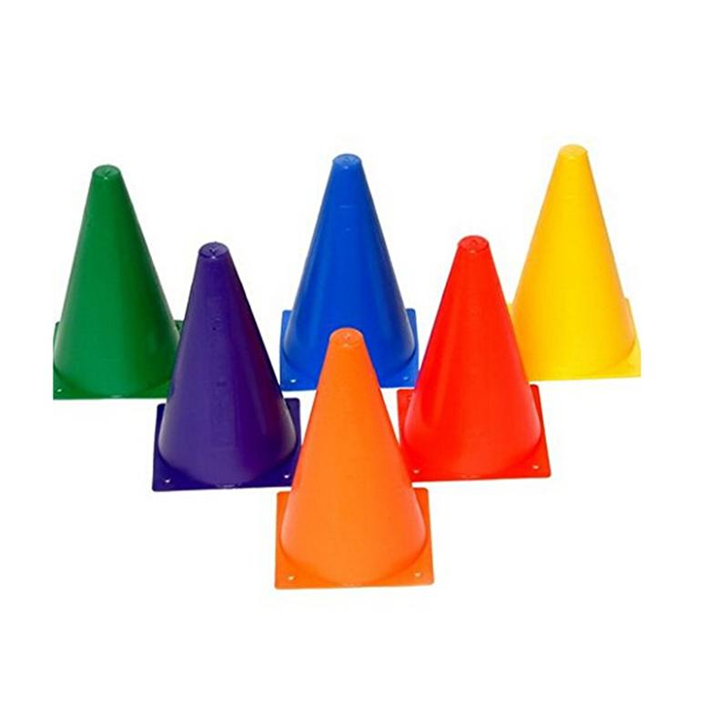 6PCS Multipurpose Plastic Sports Training Soft Durable Traffic Cones Equipment For Soccer Football Basketball