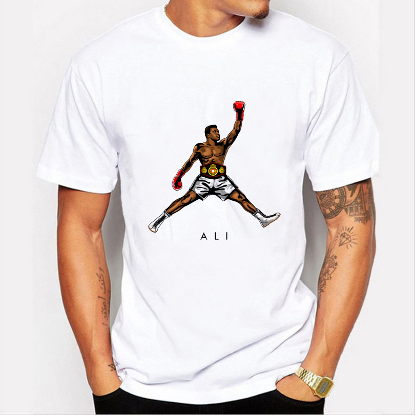 American Classics Boxer Flying Muhammad Ali Fight MMA Men Greatest Fitness Short Sleeve Basic   T  -  Shirt     T     Shirt   Tshirt
