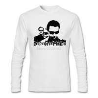 Depeche 모드 스텐실 망 셔츠 뮤지컬 개인 네이비 clothing 남성 dm 컬트 밴드 천연 코튼 정장 t 셔츠