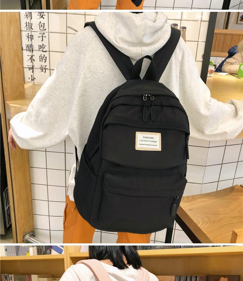 HTB1fKBJbtfvK1RjSspfq6zzXFXah DCIMOR Waterproof Nylon Women Backpack Female Large capacity high schoolbag Korean Vintage girl Shoulder Bags Travel Bag Mochila