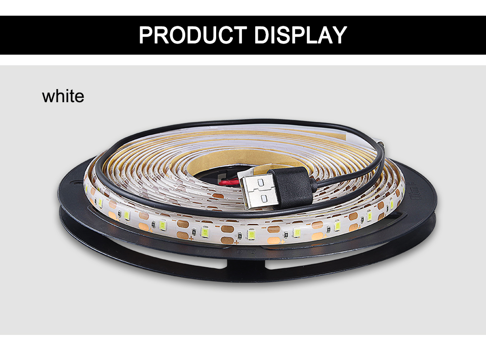 2835 SMD RGB USB charger LED Strip light DC 5V USB Cable LED Light lamp Flexible Tape 1M 2M 3M 4M 5M RF IR RGB Remote control (18)