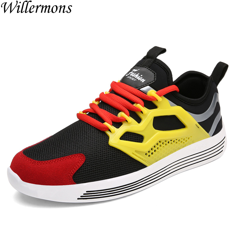 2017 New Listing Men Summer Breathable Mesh Lace-up Athletic Sports Running Shoes Men Outdoor Walking Sneakers Jogging