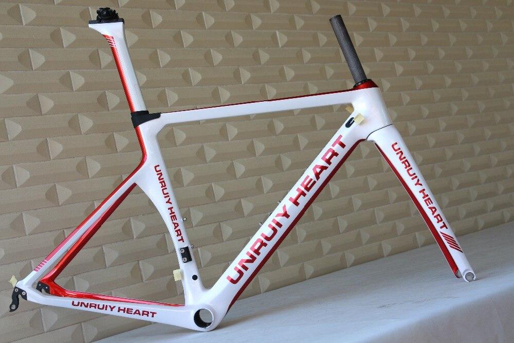 Custom Painting 700C Racing Chinese Carbon Bike Frame Carbon Fiber Road Bicycle Frame
