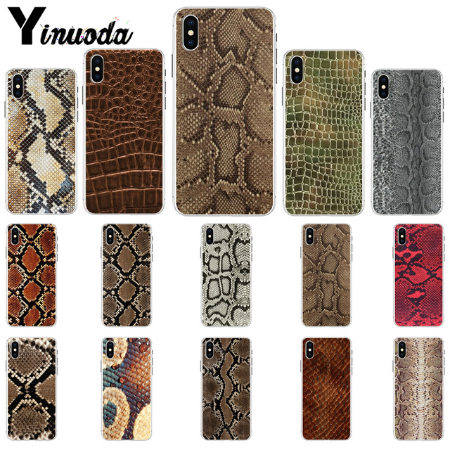 Yinuoda Snake Skin DIY Printing Drawing Phone Case cover Shell for iPhone X XS MAX 6 6S 7 7plus 8 8Plus 5 5S XR