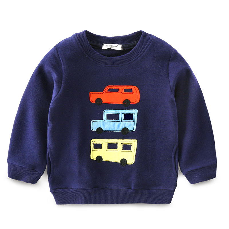 2017 Autumn Kids hoodies sweatshirts cotton Cartoon Print car bus Animal boy girls Sweater toddler coat tops Children clothing