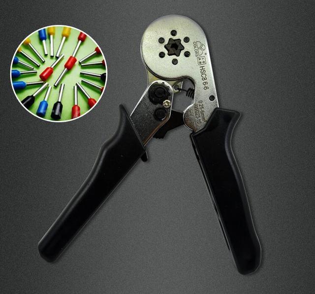 HSC8 6-6 MINI-TYPE SELF-ADJUSTABLE CRIMPING PLIER 0.25-6mm2 terminals crimping tools multi tool