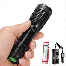 Waterproof T6 Led flashlight  CREE XML Zoomable 5Mode Torch Adjustable Tactical Lamp lanterna led + rechargeable18650 battery
