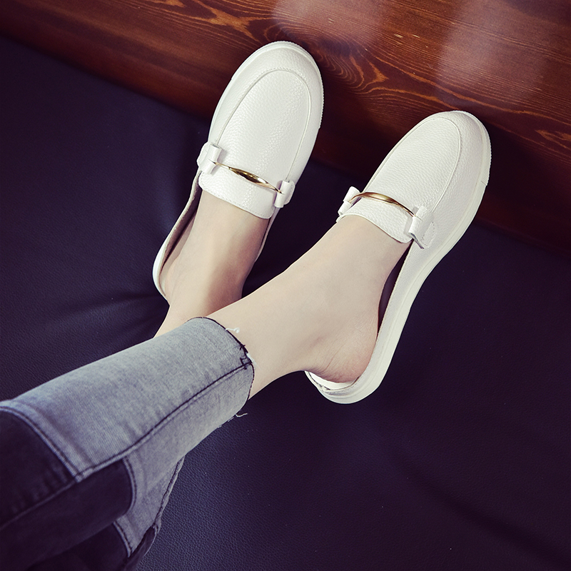 2017 foot wrapping shoes after the shoes round toe flat half-slippers lounged female morais r the hundred foot journey