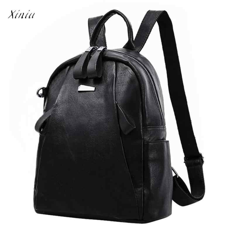 81a0b979fdf3 Модные женские туфли для девочек кожаный рюкзак дорожная школьная сумка  Высокое качество молодежи рюкзаки подростков обувь