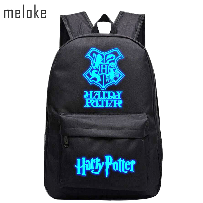 Meloke 2019 Harry Potter nylon Ryggsekk Luminous Student Skole Bag Gutt Ryggsekker Barn Girl Ryggsekker 13 stiler