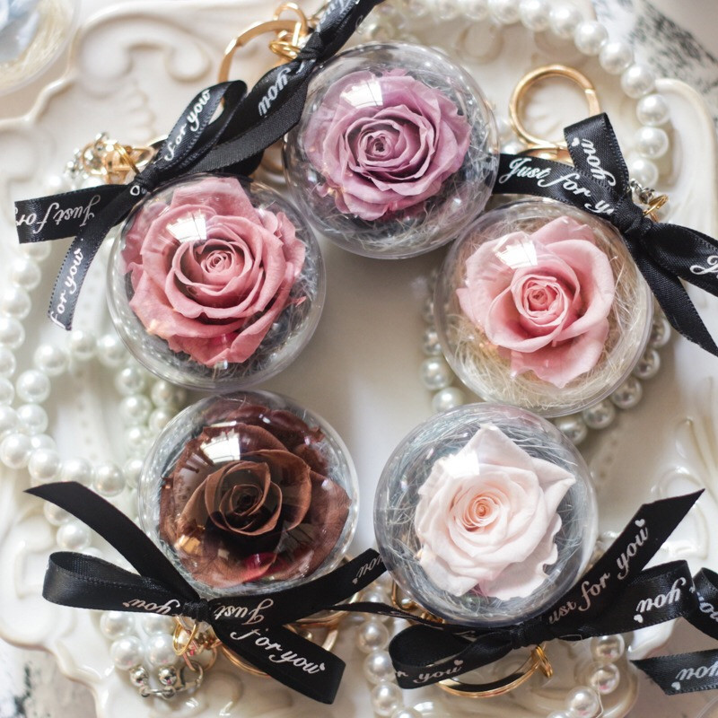 Keychain Day-Gift Roses Dome Special Eternal Present-Forever Pearl-Ornament Mum