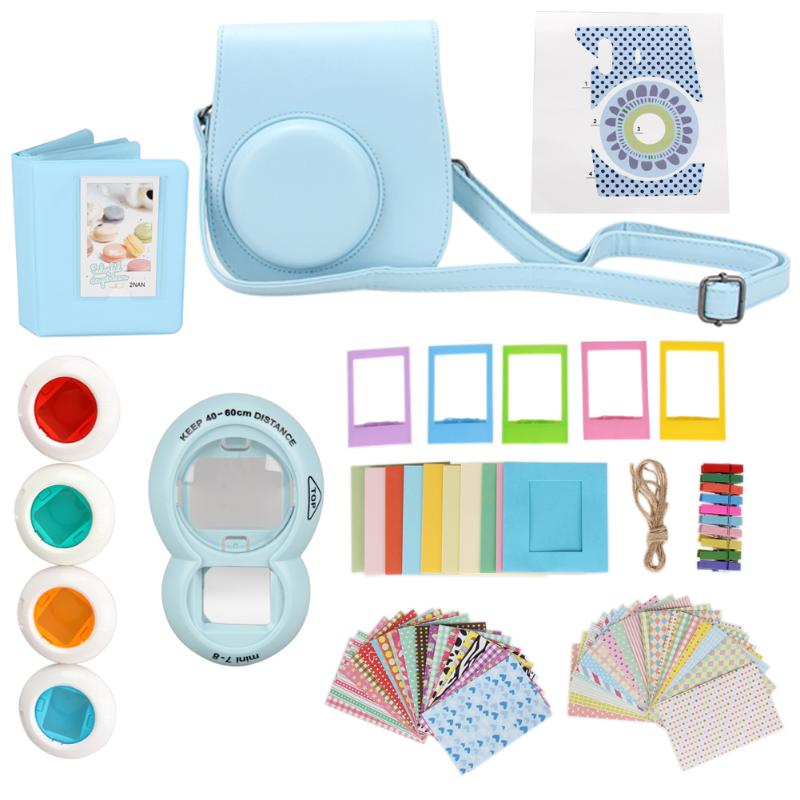 цена на 9 in 1 Instant Film Camera Album Bundles Kit Camera Case Bag Instant Camera Accessories set for Fujifilm Instax Mini 8