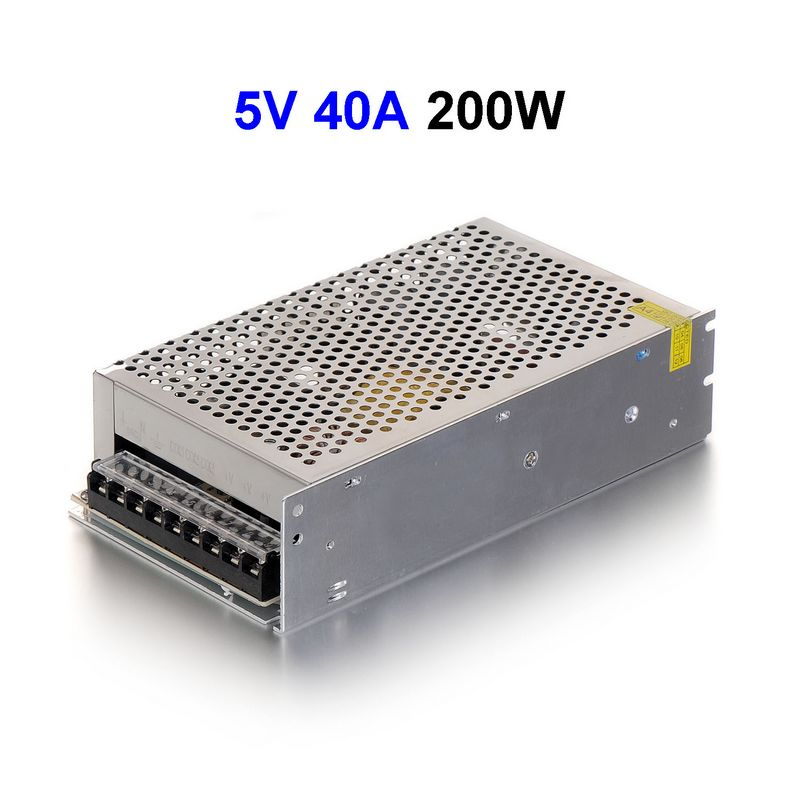 15pcs DC5V 40A 200W Switching Power Supply Adapter Driver Transformer For CCTV Security Cameras Wholesale aluminum dc 12v 29a 350w universal switching power supply adapter led driver for cctv cameras led strips home appliances