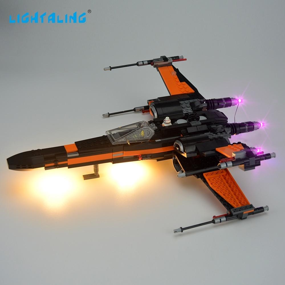 Lightaling LED Light Set För Berömt Märke 75102 Star Wars Poe - Byggklossar och byggleksaker - Foto 3