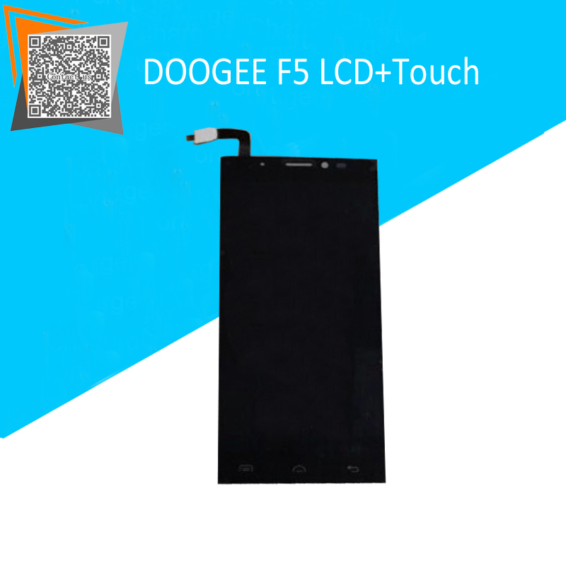 NEW Arrival 5.5 for DOOGEE F5 LCD Display with Touch Screen Assembly Black Replacement Parts Free Tracking