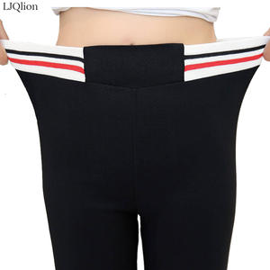 83555ac0b8d6 LJQlion High Waist Black Joggers Trousers 2018 Plus Size