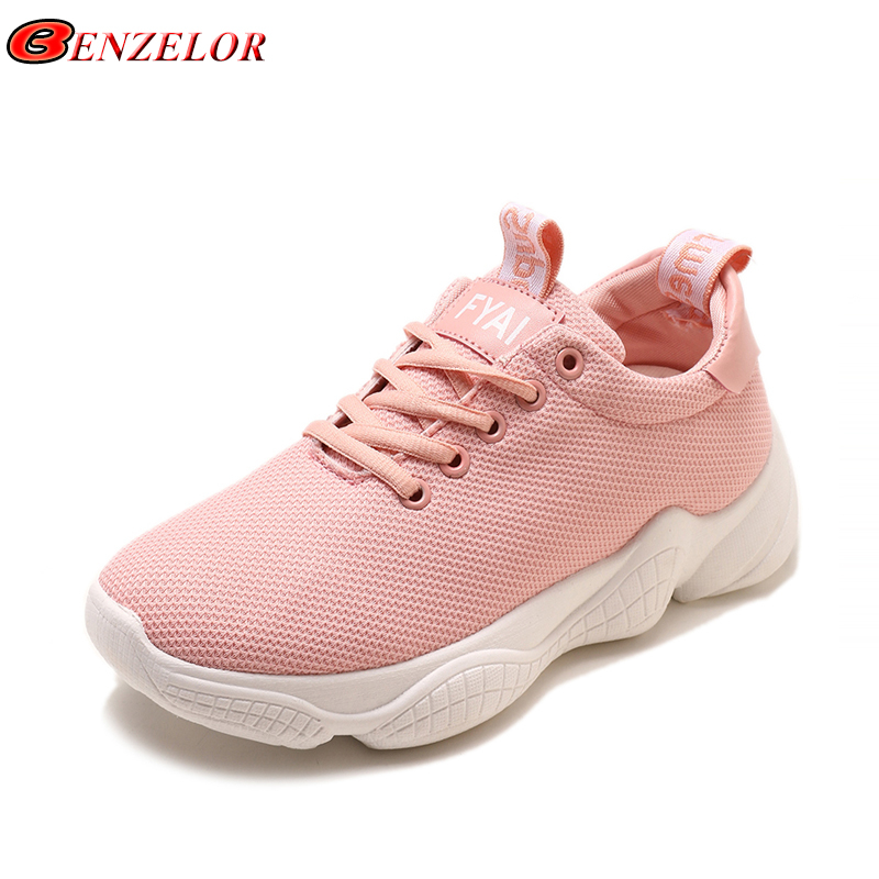 BENZELOR 2018 Spring Autumn Low Top Casual Women Shoes Woman Sneakers Thick Soled Korean Fashion Ladies Femme Chaussure footwear