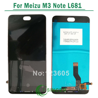 Black White LCD For Meizu L681H Cellphone Display Digitizer Touch Screen Panel Glass For Meizu L681H