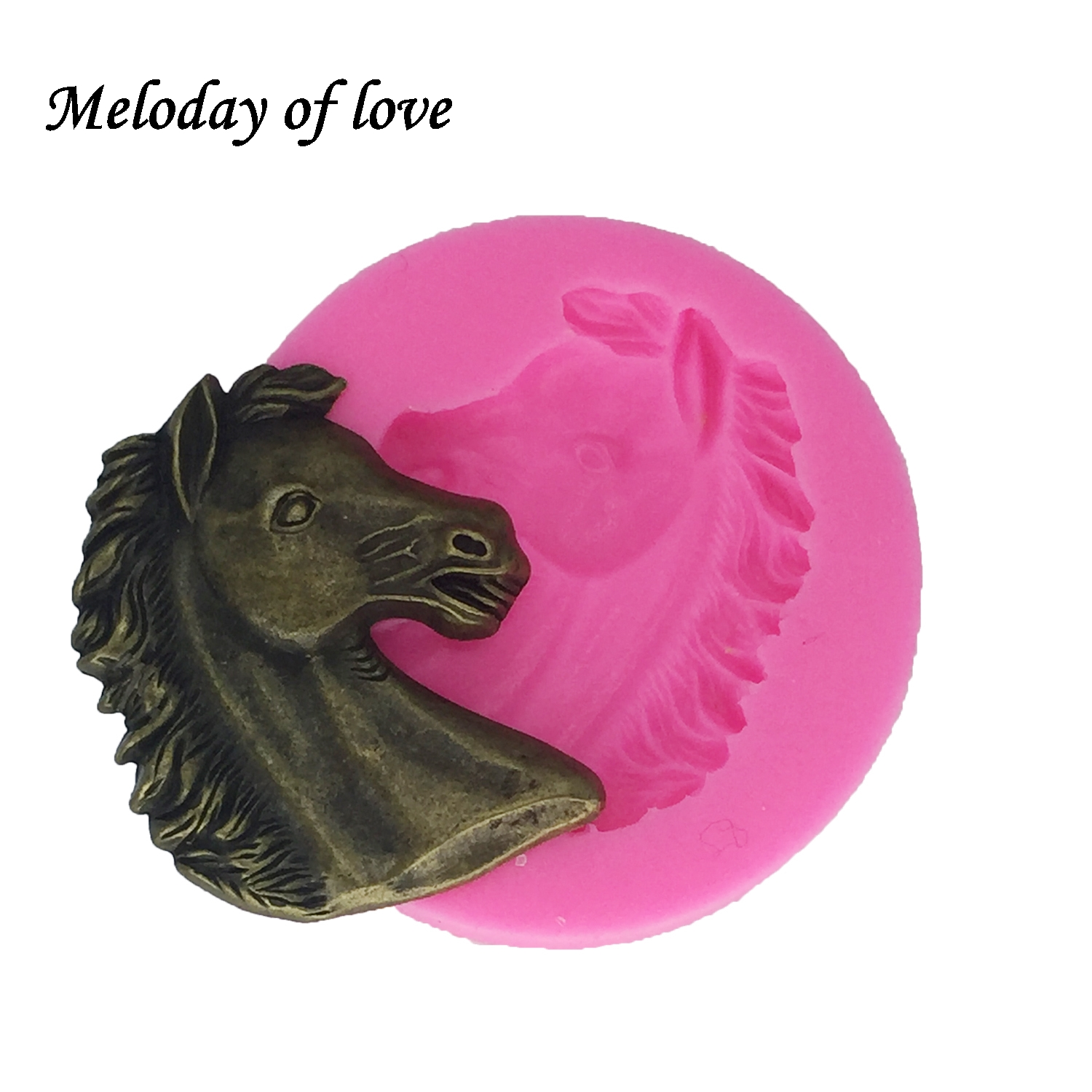 Horse head Silicone cake decorating tools Fondant moulds Sugar Craft Molds DIY Cake Sugarpaste Bakeware DY0010