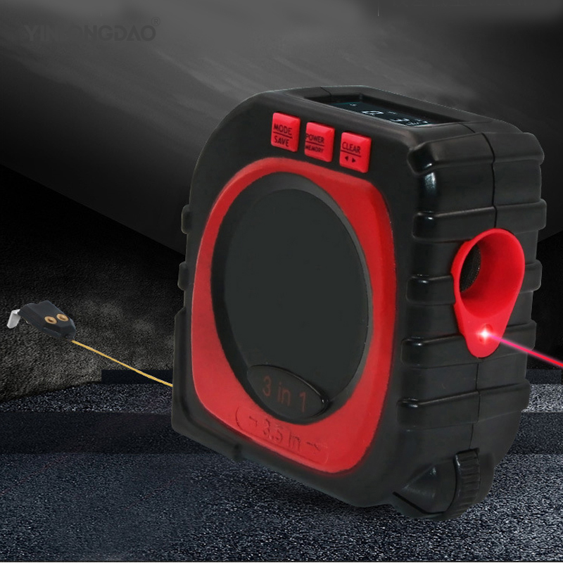 Multifunctional Three-in-one Tape Ruler Infrared Laser Rangefinder Measuring Instrument Tool Electrical Tape MeasureMultifunctional Three-in-one Tape Ruler Infrared Laser Rangefinder Measuring Instrument Tool Electrical Tape Measure