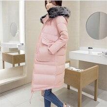 2016 Зимняя Куртка Пальто женщин Парки Большой Капюшоном Женщина Верхней Одежды Свободную Одежду A952