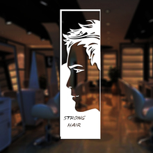 Man Barber Shop Sticker Name Shavers Chop Bread Decal Haircut Posters Vinyl Wall Art Decals Decor Windows Decoration Mural