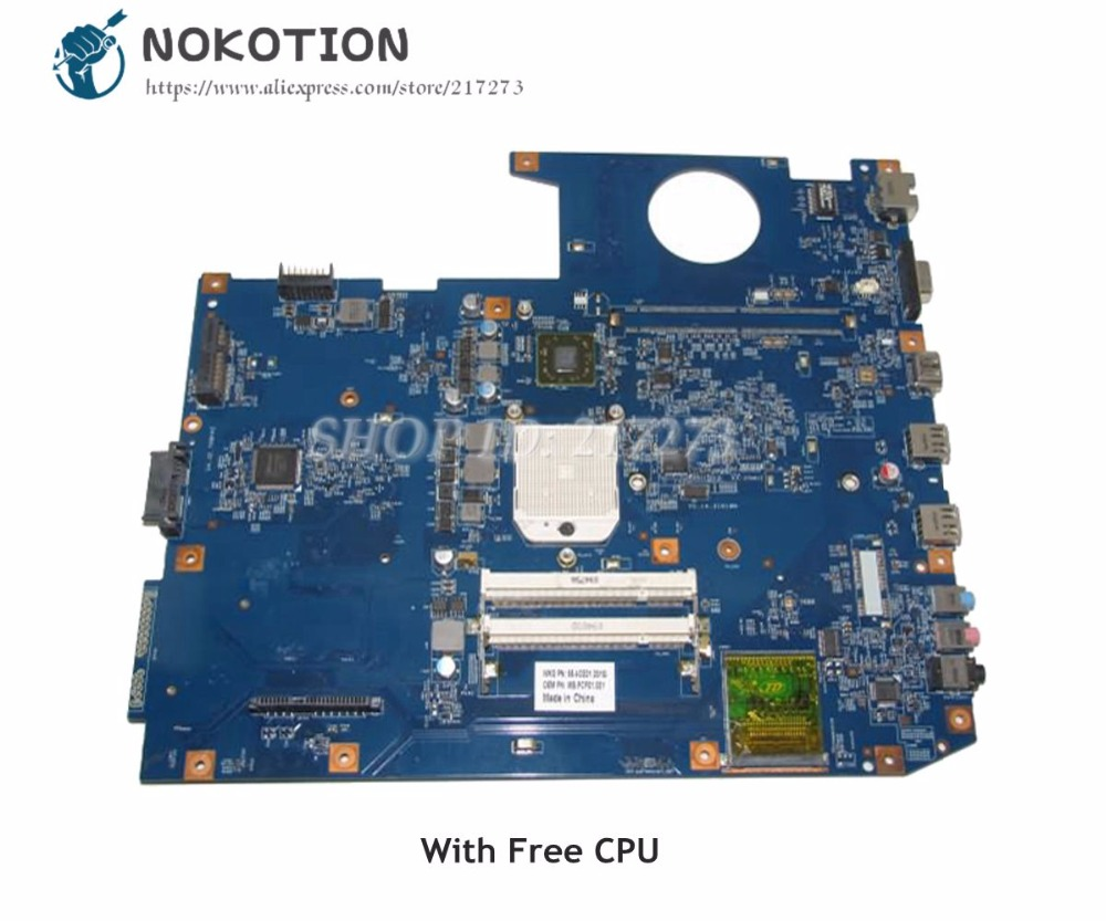 NOKOTION For Acer aspire 7535 7735 Laptop Motherboard MBPCF01001 MB.PCF01.001 48.4CE01.021 DDR2 Free CPU without graphics slot image