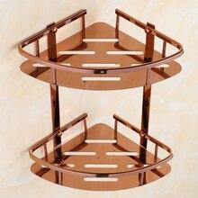 Античная розовое золото Caddy хранения стойка из нержавеющей стали полка для ванной и душа Organiozer настенный аксессуары для ванной интимные аксессуары