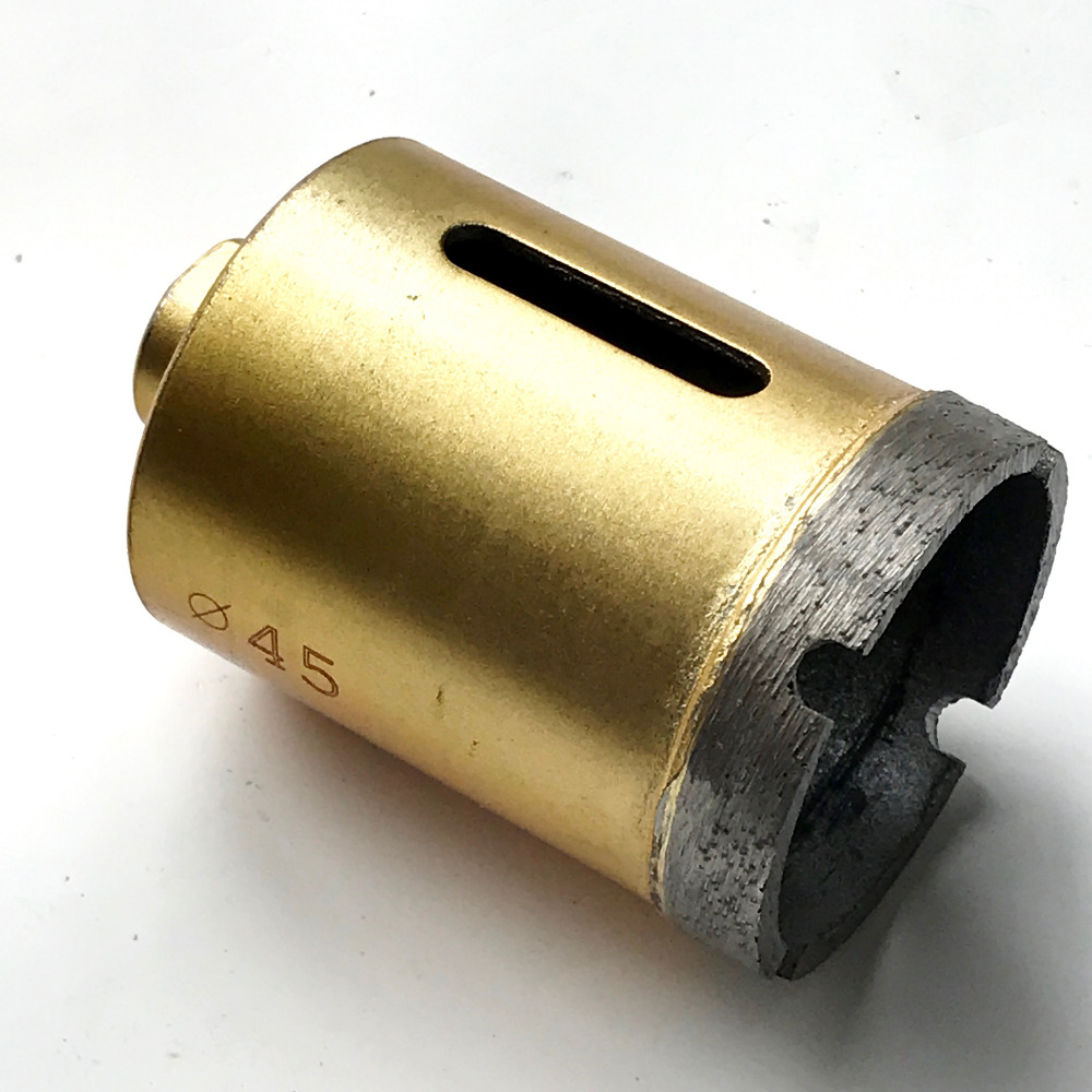 Free shipping 1pcs 45mm diamond hole saw with M10 connector core bit drill bit for marble/granite/brick/stone bit reamer free shipping 1pcs 25 m10mm marble opener diamond hole saw core bit drill bit for marble granite brick stone bit reamer drilling