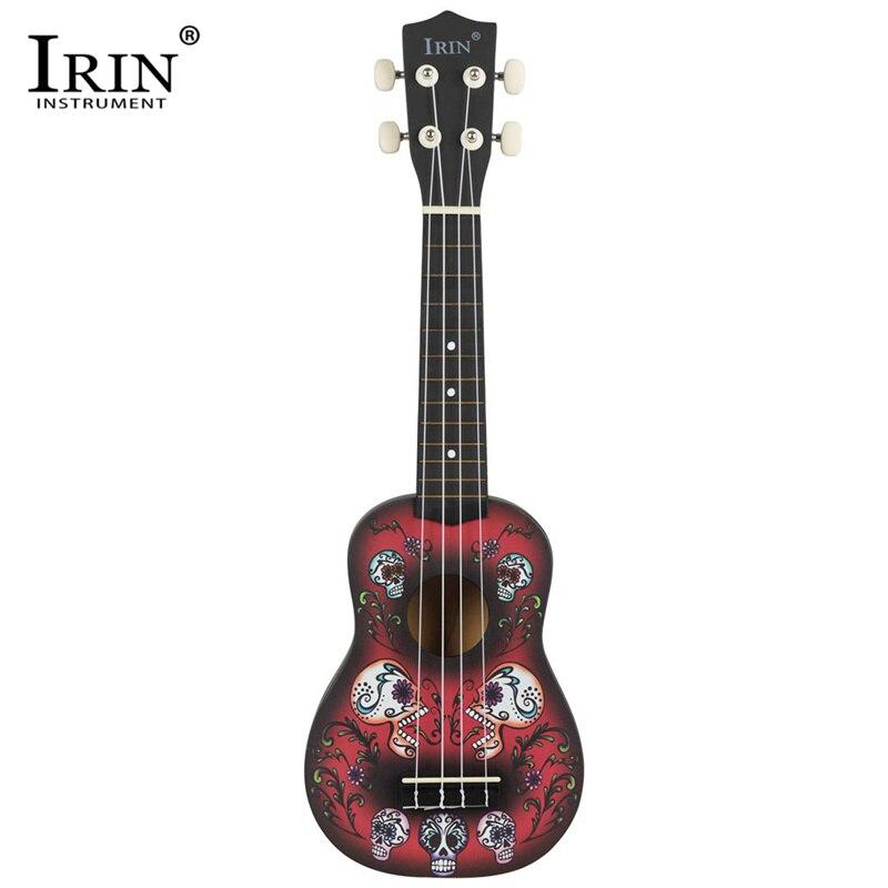 IRIN 4 Strings 21 Inch Ukulele Hawaiian Spruce Basswood Body Soprano Taro Pattern Guitar With 21inch Ukulele Guitar Bag