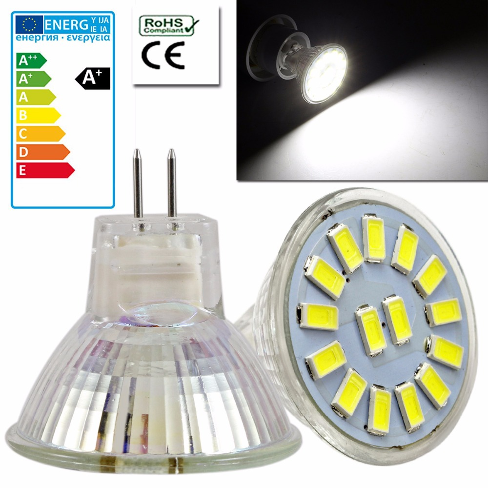 10PCS Set 4W LED Lamp Energy Saving AC/<font><b>DC</b></font> <font><b>12</b></font>-<font><b>30V</b></font> MR11 GU4 5733 SMD Led Spotlight Spot Light Bulb Cool/Warm White image