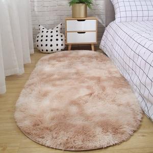 Image 5 - Halı yatak odası oval başucu halı oturma odası kanepe sehpa mat zemin odası peluş halı değil lint olmayan solma kaymaz battaniye
