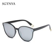 2019 new cat eye sunglasses retro bright brand designer trend glasses UV400