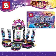 476pcs SY380 Friends Pop Star Show Stage Minifigures Grils DIY 3D Building Blocks Model Action Figures Toys Compatible With