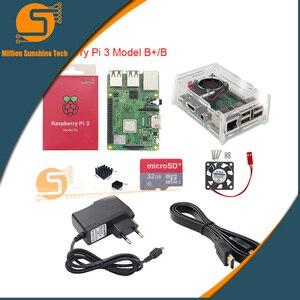 Image 3 - Najnowszy! Raspberry pi 3B +/3B + 16GB/32GB + radiator + wentylator + obudowa + 5V 2.5A moc + kabel HDMI dla Raspberry pi 3B/3B + darmowa wysyłka