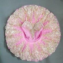 Розовая профессиональная балетная пачка для детей девочек, балетные костюмы для девочек, танцевальные костюмы, балетное платье для девочек