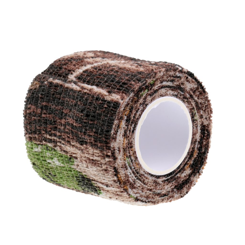 Image 2 - Elastic Camouflage Fabric Tape Camo Stealth Tape 220x5CM Concealment Aid for Binoculars Torches Hiking Camp Hunting-in Hunting Gun Accessories from Sports & Entertainment