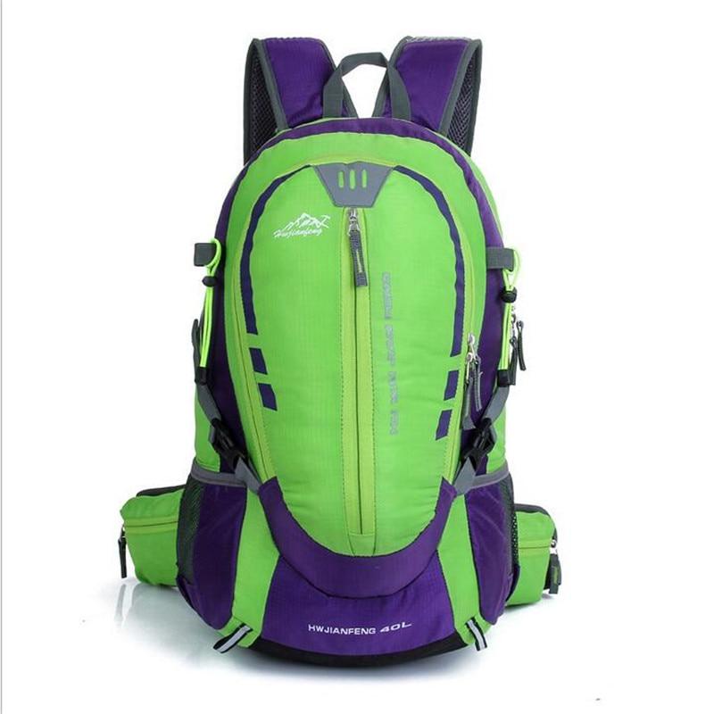 HUWAIJIANFENG Printing Backpacks Waterproof Nylon Men's Backpacks 40L High-capacity Women Bags Brand Laptop Backpack  M167 2016 brand 40l waterproof nylon women