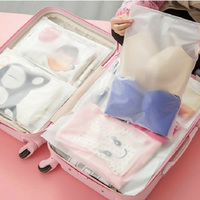 Waterproof Clear Transparent Luggage Travel Bags Clothes Jewelry Zipper Cactus Organizer Bag Reclosable EVA Bags