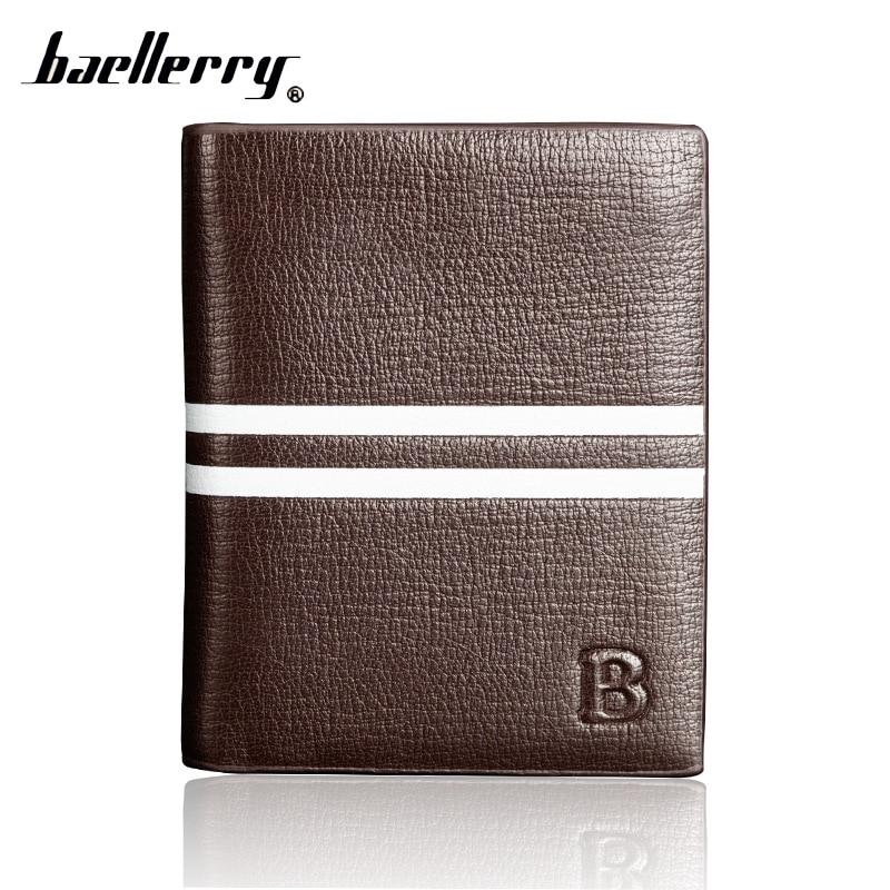 Baellerry Badge Card Holder Small Short Money Slim Men Wallet Male Purse Cuzdan For Baellery Thin Portomonee Walet Perse Vallet